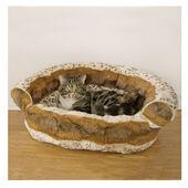 Rosewood 40 Winks Sofa Cat Bed Hyena Print Brown 51cm (20\