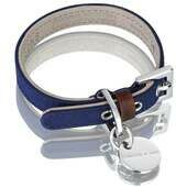 Hennessy & Sons Scottish Waxed Cotton Dog Collar - Navy