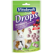 9 x Vitakraft Small Animal Sugar Free Wild Berry Drops 75g
