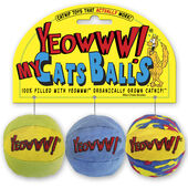 """Yeowww My Cats Balls 2"""" 3 Pack"""