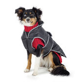 Muddy Paws 3 In 1 Combo Waterproof Coat & Sweater Black/Red