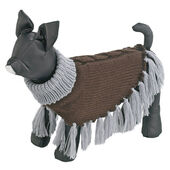 Ferplast Unique Brown Dog Tassel Poncho Jumper