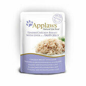 16 x Applaws Cat Pouch Chicken With Liver In Jelly 70g