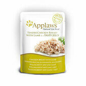 16 x Applaws Cat Pouch Chicken With Lamb In Jelly 70g