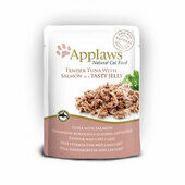 16 x Applaws Cat Pouch Tuna Wholemeat With Salmon In Jelly 70g