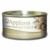 24 x Applaws Cat Can Senior Tuna With Sardine In Jelly 70g
