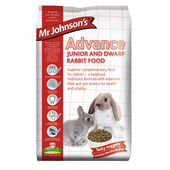 4 x Mr Johnson\'s Advance Junior & Dwarf Rabbit 1.5kg