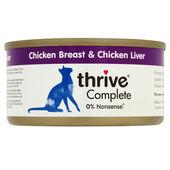 12 x Thrive Complete Adult Chicken Breast & Chicken Liver 75g