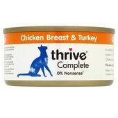 12 x Thrive Complete Adult Chicken Breast & Turkey 75g