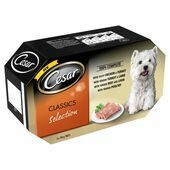 4 x 150g Cesar Classics Selection Wet Dog Food Variety Pack - 600g