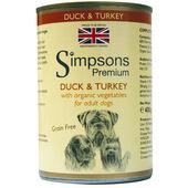 6 x Simpsons Premium Organic Adult Duck & Turkey Casserole 400g