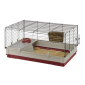 Ferplast Krolik Small Animal Cage Burgundy