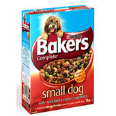 Bakers Meaty Meals Small Dog Beef Adult Dry Dog Food - 1kg