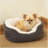 Rosewood 40 Winks Oval Sleeper Jumbo Cord/plush Grey Dog Bed