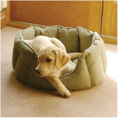 Rosewood 40 Winks Oval Sleeper Tweed Green Dog Bed