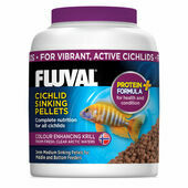 Fluval Cichlid Sinking Pellets Colour Enhancing Tropical Fish Food