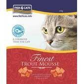 6 x Fish4cats Trout Mousse 100g