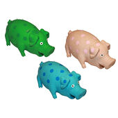 3 x Happypet Latex Pigs Assorted