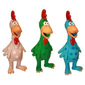 3 x Happypet Latex Chickens Assorted