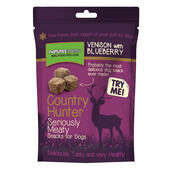 10 x Country Hunter Freeze Dried Dog Treats Venison With Blueberries 50g