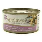 24 x Applaws Cat Can Mackerel With Sardine70g