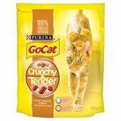5 x Go-cat Crunchy And Tender Chicken Turkey & Veg 375g