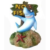 Supa Ornaments No Fishing Sign Shark