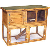 Seapets Pet Specialist Garden Hutch & Run 131 X 65 X 102cm