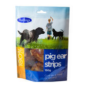 8 x Hollings Pig Ear Strips Display 150g