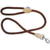 Dog & Co Supersoft Rope Trigger Lead Brown