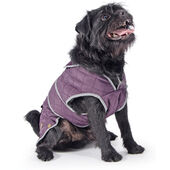Muddy Paws Barker Purple Quilted Jacket Damson