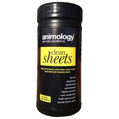 Animology Clean Sheets Pet Cleaning Wipes 80 Pack