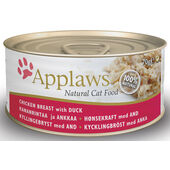 24 x Applaws Cat Can Chicken With Duck 70g