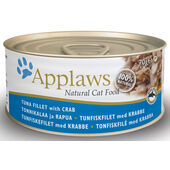 24 x Applaws Cat Can Tuna With Crab 70g