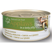 24 x Applaws Cat Can Tuna With Seaweed In Jelly 70g