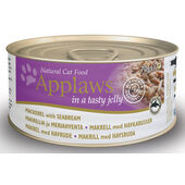 24 x Applaws Cat Can Mackerel With Seabream In Jelly 70g
