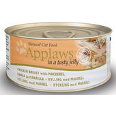 24 x Applaws Cat Can Chicken With Mackerel In Jelly 70g