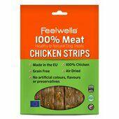10 x Feelwells 100% Meat Treats Chicken Strips 100g