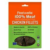 10 x Feelwells 100% Meat Treats Chicken Fillets 100g