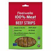 10 x Feelwells 100% Meat Treats Beef Strips 100g