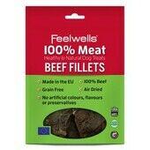 10 x Feelwells 100% Meat Treats Beef Fillets 100g