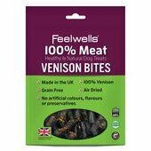 10 x Feelwells 100% Meat Treats Venison Bites 100g