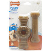 Nylabone Puppy Chew Twin Pack Ring Flexi Wolf
