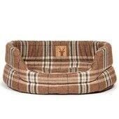 Danish Design Newton Brown Check Truffle Slumber Dog Bed