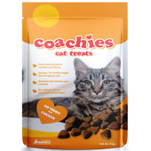 12 x Coachies Cat Treats Chicken Hair Ball Prevention 65g