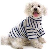 Cosipet Cosi Fleece Coat Blue Stripe