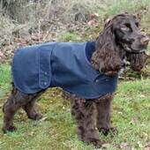 Cosipet Hunter Wax Waterproof Navy Blue Dog Coat