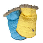 Doggy Things Waterproof Puffa Parka Jacket With Hood Yellow