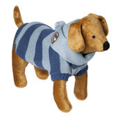 Doggy Things Scarf Jumper in Blue