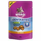 8 x Whiskas Dentabites Treats With Chicken 50g